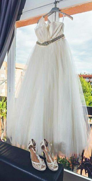 Vendo vestido de novia corte princesa