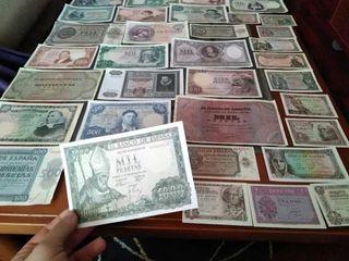 Lote 39 billetes españoles (Facsimil)
