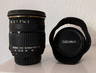 Objetivo Sigma 18-50 f/2.8 para Nikon, poco uso!