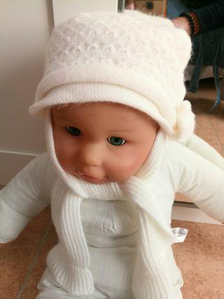 gorro bufanda bebé