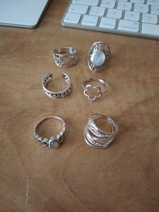 anillos plata de ley.