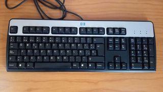 teclado de ordenador PC conexión PS2 HP