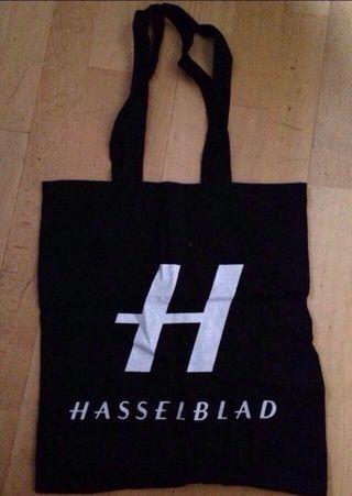 Bolsa de tela negra Hasselblad.Nueva a estrenar