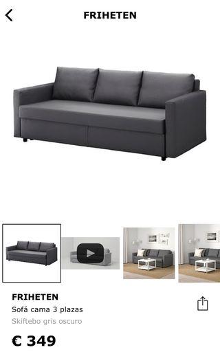 Sofá cama Friheten gris IKEA