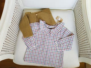 Conjunto camisa y rebeca 18-24 meses