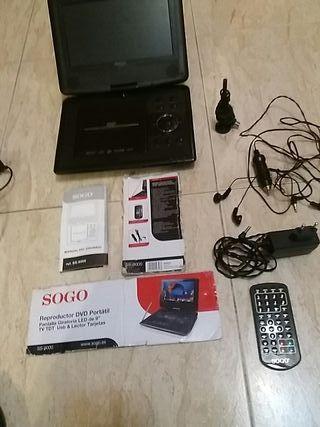 Reproductor DVD portátil y TV