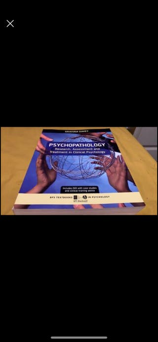 Psychopathology textbook DAVEY