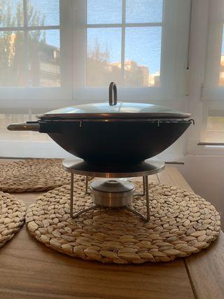 Wok Bodum hierro fundido 29 cm de diámetro
