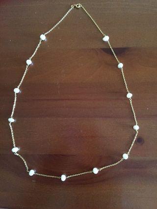 Collar antiguo oro y perlas