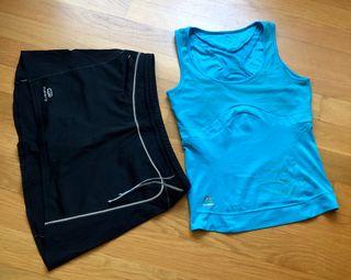 Conjunto falda y camiseta Padel