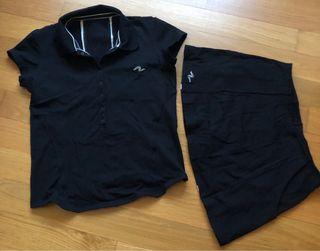 Conjunto falda, camiseta Padel