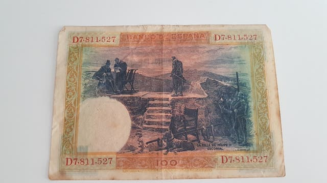 Billete 100 pesetas año 1925.