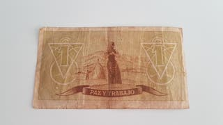 Billete una peseta