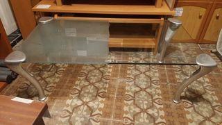 mesa de centro de diseño acristalada