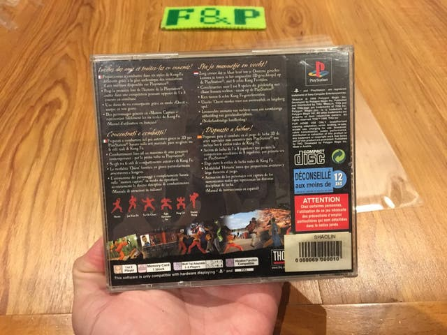 Shaolin playstation psx