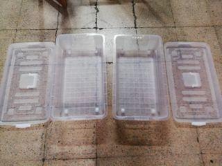 cajas de plástico rígidas con ruedas 78cm x43