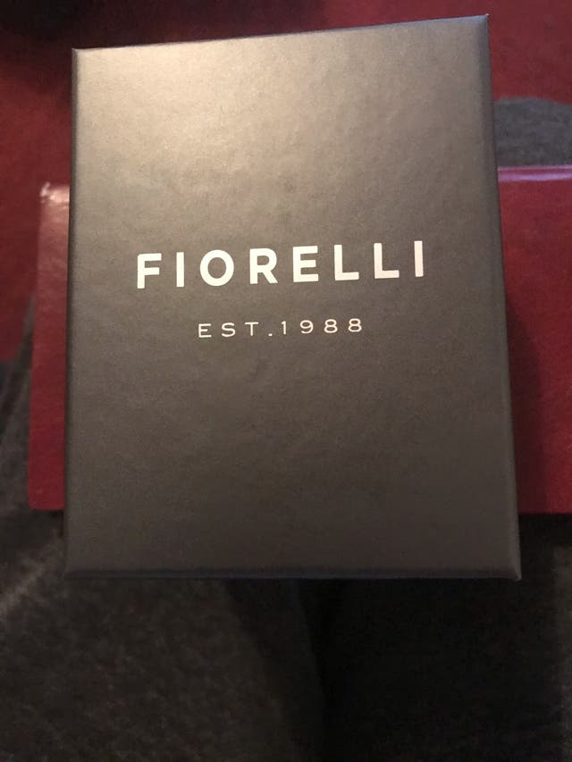 empty fiorelli watch box
