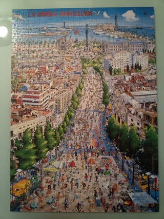 Puzzle 1.000 piezas La Rambla. Barcelona
