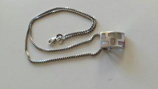 cadena + congante de plata de 925.