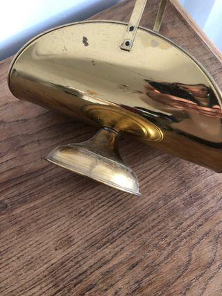 Cesta latón dorado