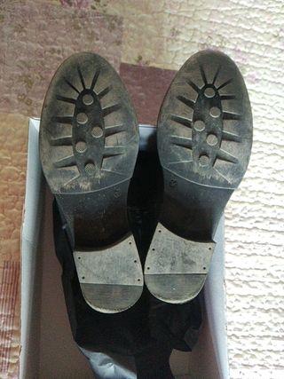botín de piel