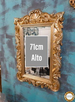 Espejo Barroco Dorado 71cm Alto