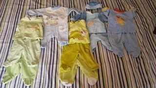 Lote ropa invierno bebé 1 mes