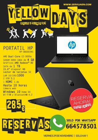 PORTATIL HP CON 10H DE BATERIA 4GB/ 1TB/15.6/HDMI