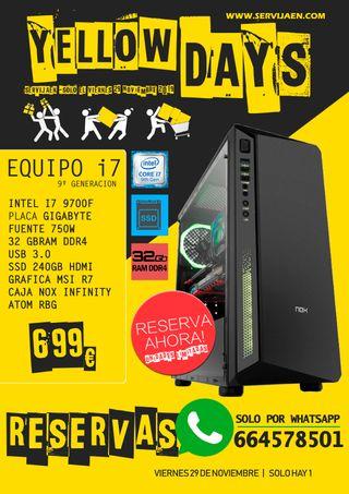 TORRE I7 DE 9ªGeneracion 32gb ram SSD240