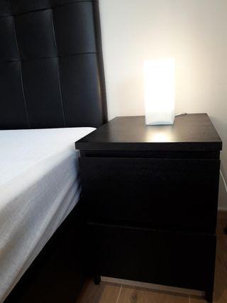 DORMITORIO IKEA, CANAPÉ, CABECERO, MESILLAS MALM