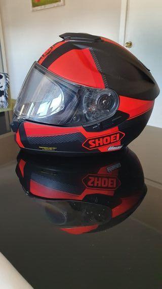 Casco moto SHOEI GT AIR color Rojo + Carbono