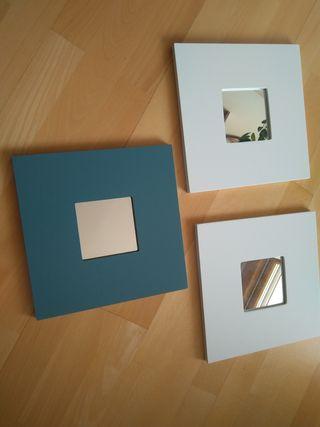 Espejos de pared - 3 piezas