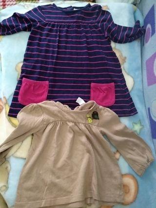 vestido y camiseta de Zara y HM