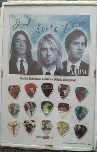 Nirvana - cuadro con púas de guitarra