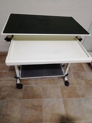 Mesa ordenador metálica