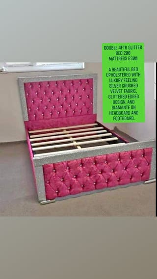 Double 4ft6 glitter bed
