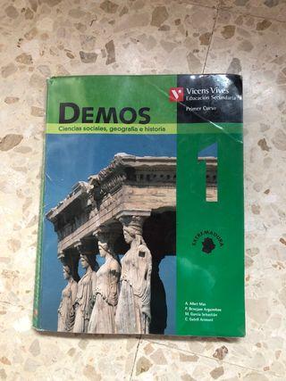 Libro de ciencias sociales 1 ESO