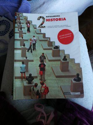 Libro Historia en euskera, 2 Bachillerato