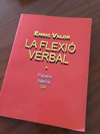 La flexió verbal. Enric Valor