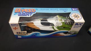juguetes: avión aerobus y lancha super speed boat