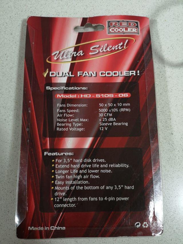 Disipador de disco duro Red Cooler