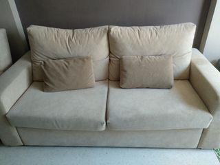Conjunto sofá cama + sillón relax