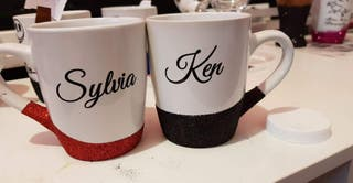 personalised jack and Sally couples mugs