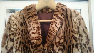 Abrigo largo piel leopardo auténtica
