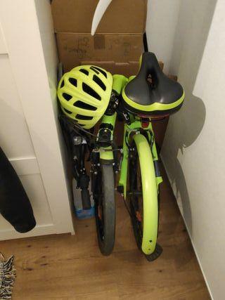 bicicleta plegable btwin t500