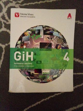 Libro sobre geografia y historia