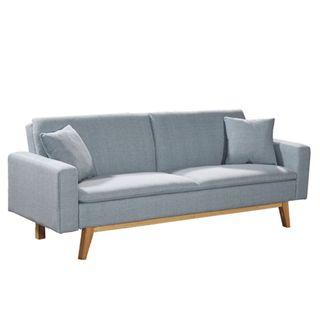 Sofá cama tipo Ikea, Conforama, sillón celeste