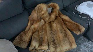 abrigo piel zorro original