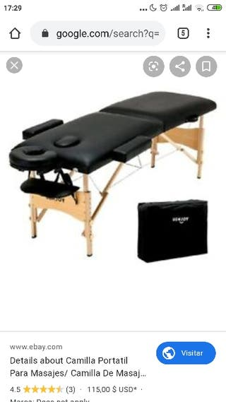massage table.