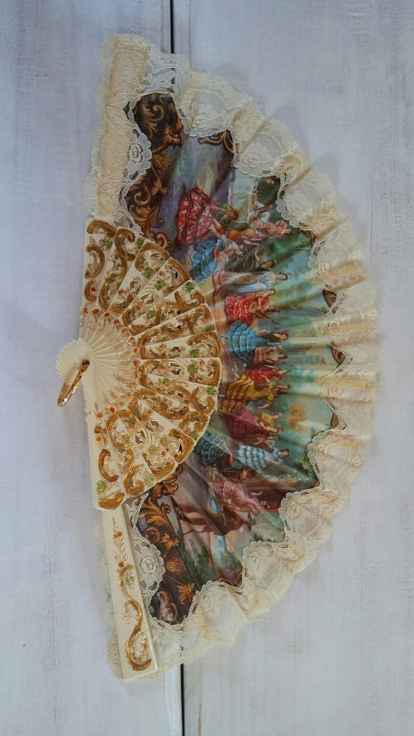 Abanico antiguo flamenco.